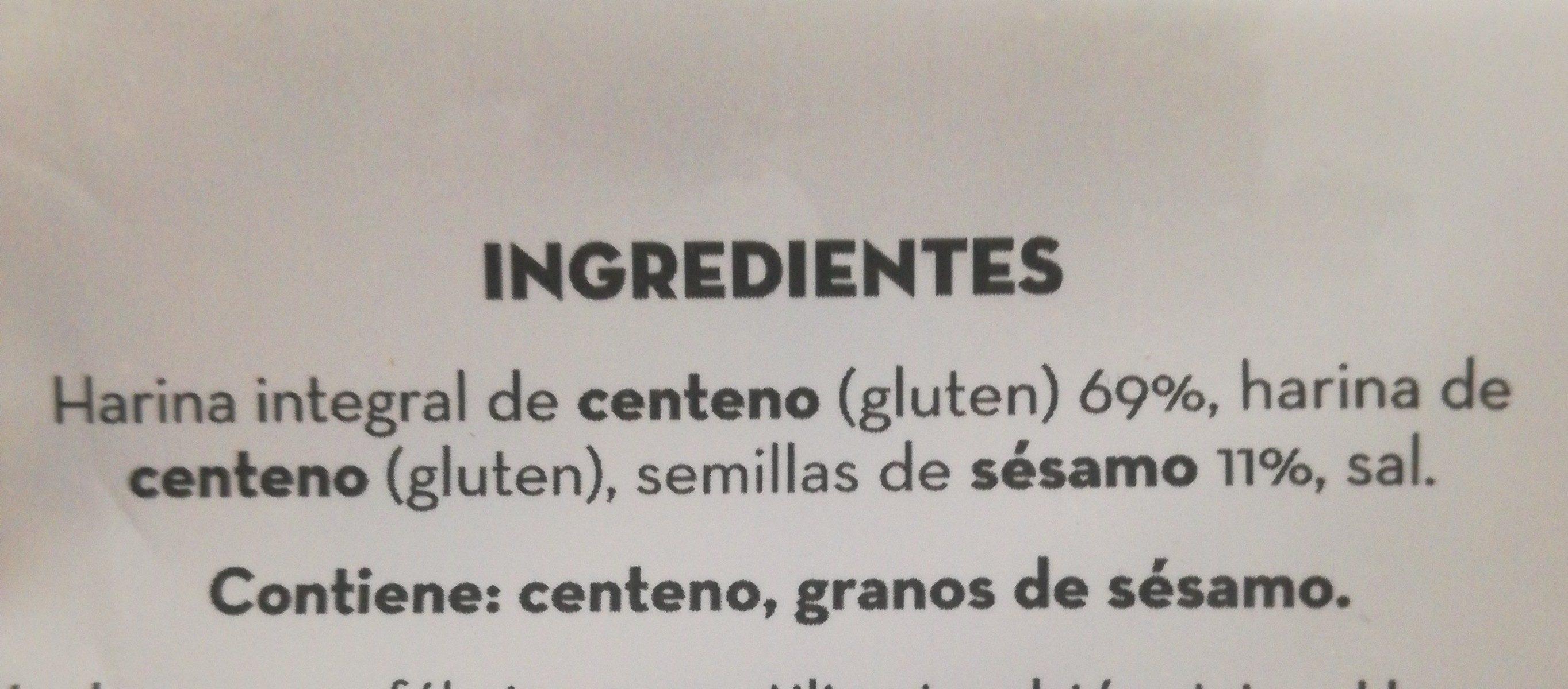 Pan fibra y sésamo - Ingrédients - fr