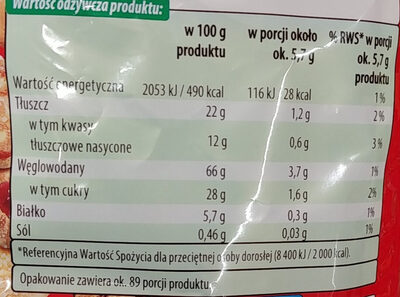 Mieszkanka ciastek kruchych - Wartości odżywcze - pl