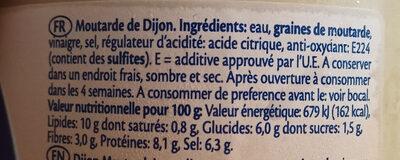 Remia Dijon Mustard - Ingrediënten