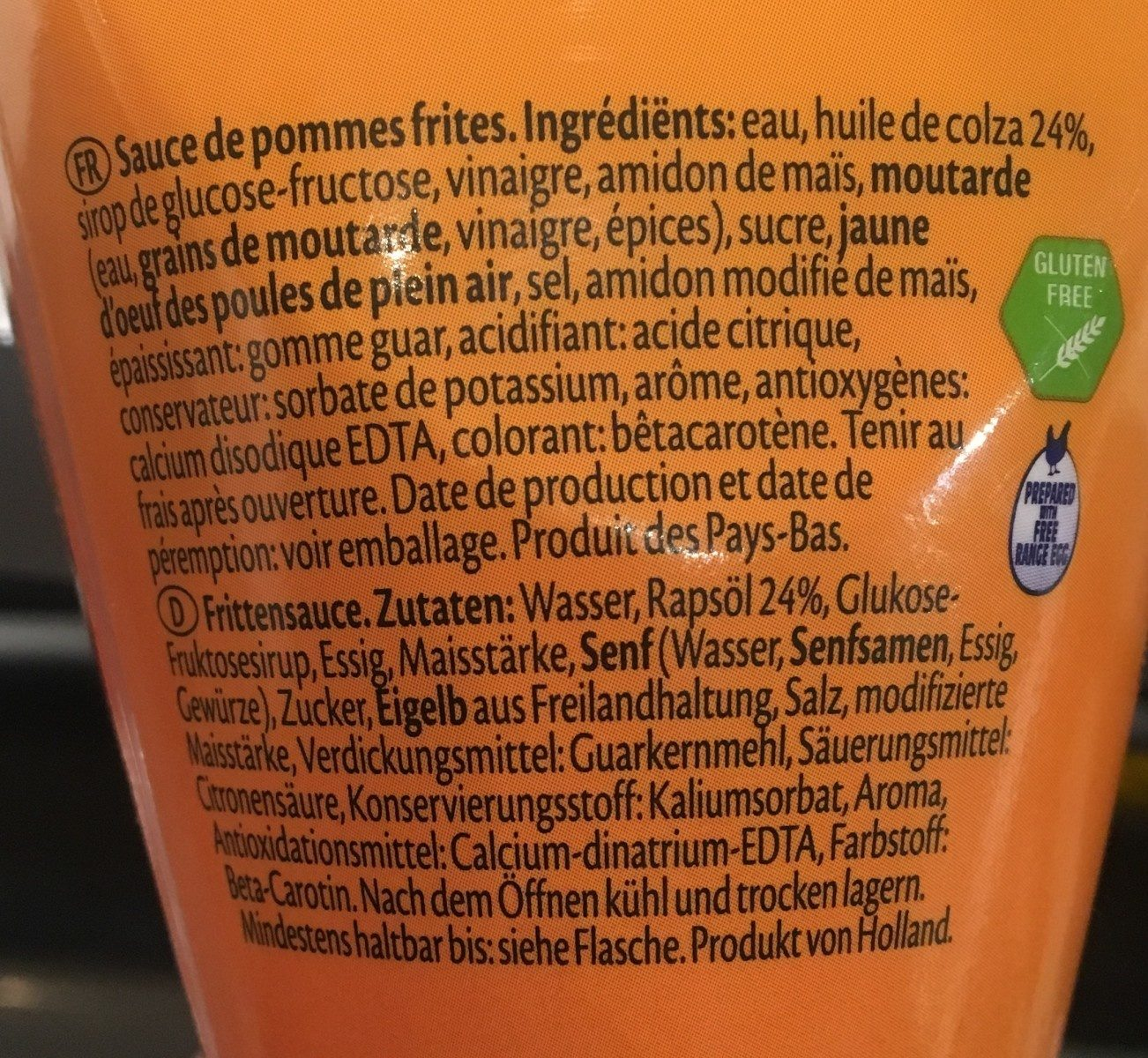 Sauce frites - Ingredients - fr