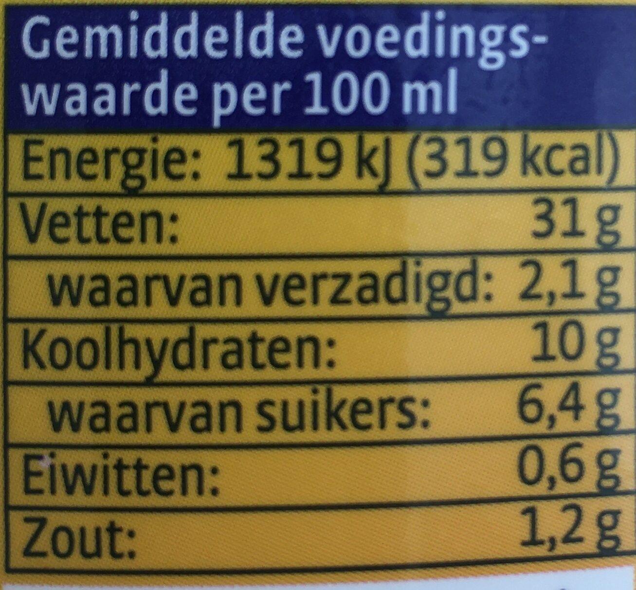 Remia Mayolijn - Voedingswaarden - nl
