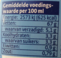 Remia mayonaise - Informations nutritionnelles - nl