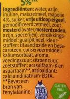 Frites saus 5% vet - Ingrediënten