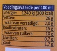 Fritessaus Classic XL - Voedingswaarden - nl