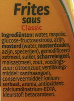 Frites saus classic - Ingredients - nl