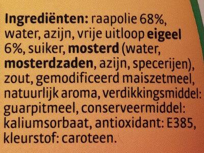 mayonaise - Ingrediënten - nl
