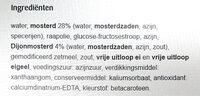 Mosterdsaus - Ingredients - nl