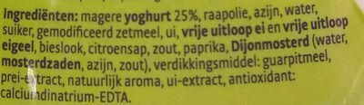 Magere yoghurt dressing - Ingredients - nl