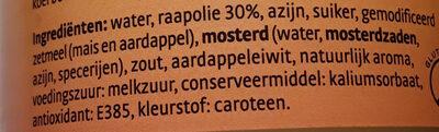 Mayonnaise vegan - Ingrediënten - nl