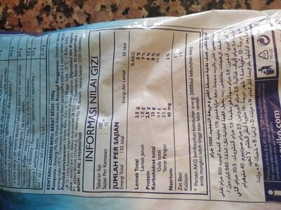 Pommes Frites Aviko - Nutrition facts - fr
