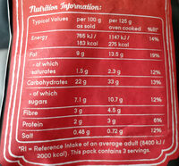 Super Sweet Rib Cut - Nutrition facts - en