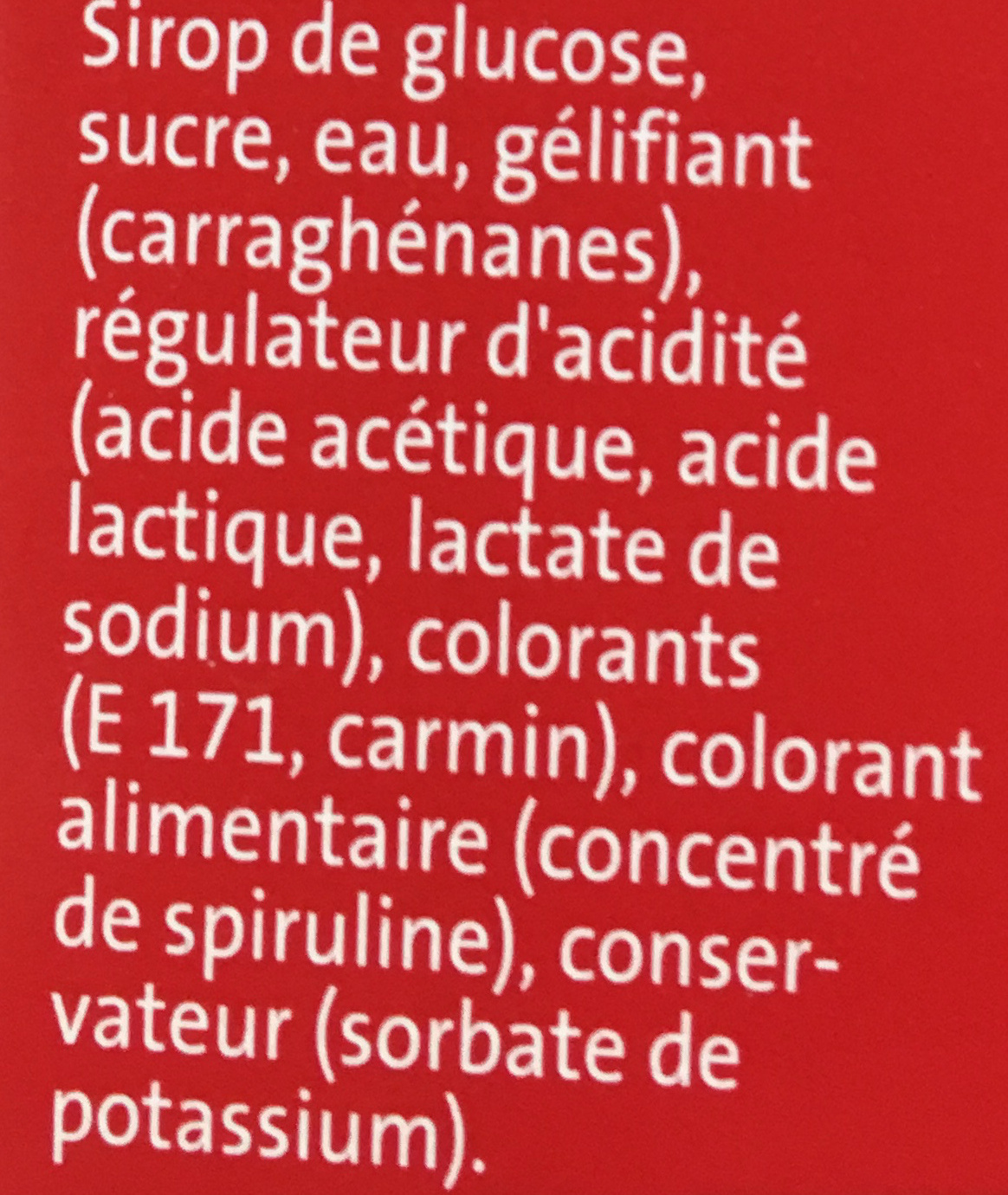 Crayons Brillants (rose, bleu, mauve, argent) - Ingrédients - fr
