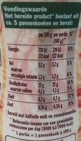 Pannenkoeken Origineel - Nutrition facts - nl