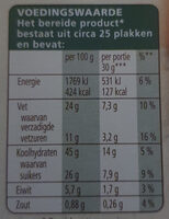 Boerencake - Nutrition facts - nl