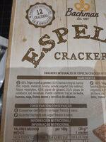 Espelta Crackers - Ingredients