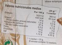 Espelta Crackers - Voedingswaarden - es