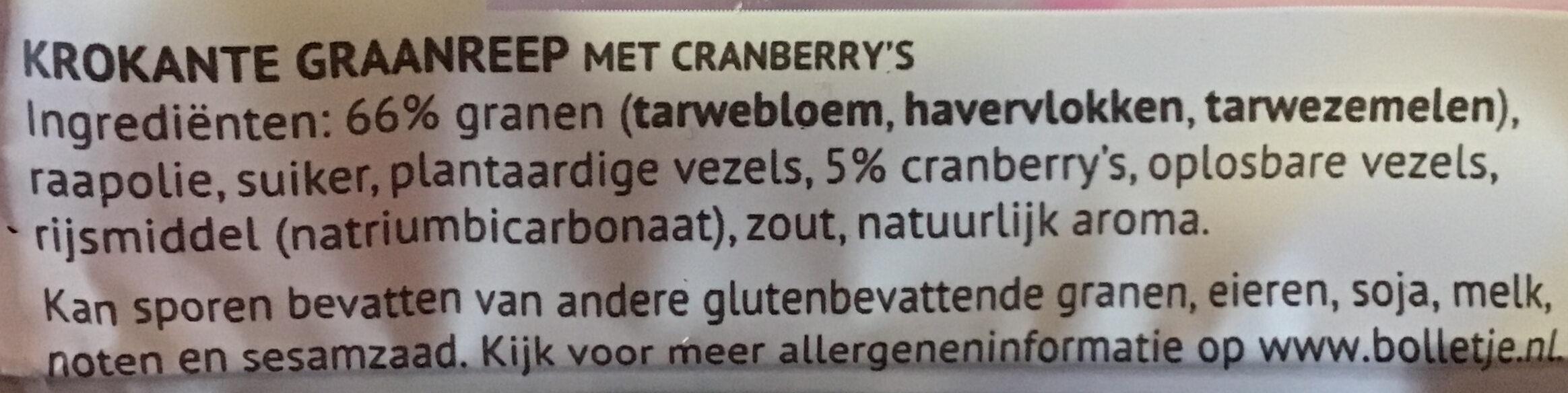 Cranberry - Ingredients - nl