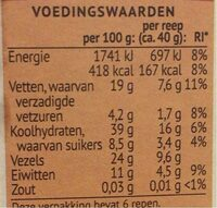 Noten&granen repen amandel&havermout - Valori nutrizionali - nl