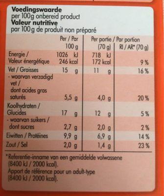 Viandelle - Nutrition facts - fr