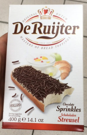 De ruijter, sprinkles, dark chocolate - Product - en