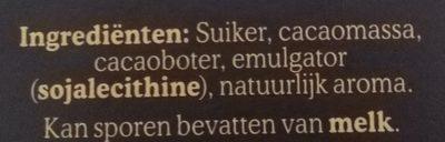 Chunks extra puur - Ingrediënten - nl