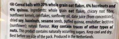 Granola bites - hazelnuts - Ingrédients