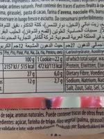 Nugatelli Cookies - Informations nutritionnelles