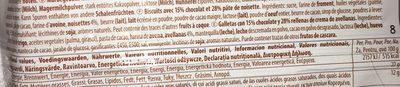 Biscuits Au Chocolat Et à La Pâte De Noisette - Ingrediënten