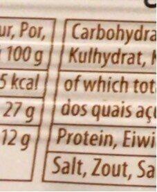 Biscuits Au Chocolat Et à La Pâte De Noisette - Informations nutritionnelles - fr