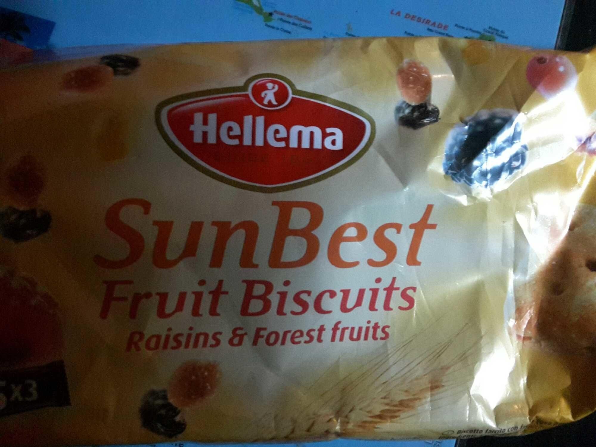 Sunbest Fruit Biscuits Raisin & Forest Fruit - Produit - fr