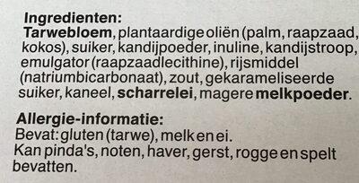 Kluskoekjes, Speculoos, Speculaas - Ingredients - nl