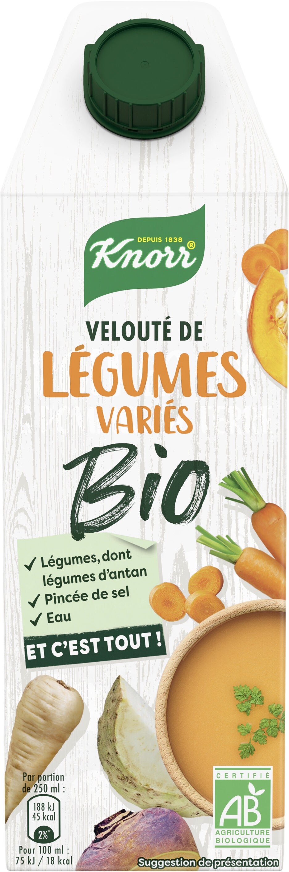 Knorr Velouté Bio de Légumes Variés - Prodotto - fr