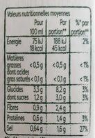 Knorr Velouté Bio de Légumes Variés - Valori nutrizionali - fr