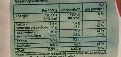Wortel wraps - Voedingswaarden - nl