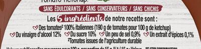 Ketchup - Ingrédients - fr