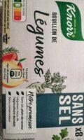 Knorr Bouillon de Légumes Sans Sel x8 - Produit - fr