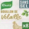 Knorr Bouillon Cubes de Volailles - Sans Sel - x 8 - Product