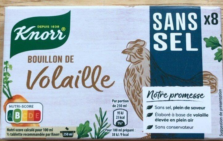 Knorr Bouillon de Volaille Sans Sel x8 - Produit - fr