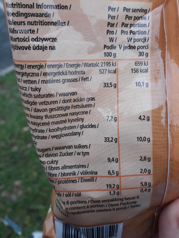 Peanuts - Informations nutritionnelles
