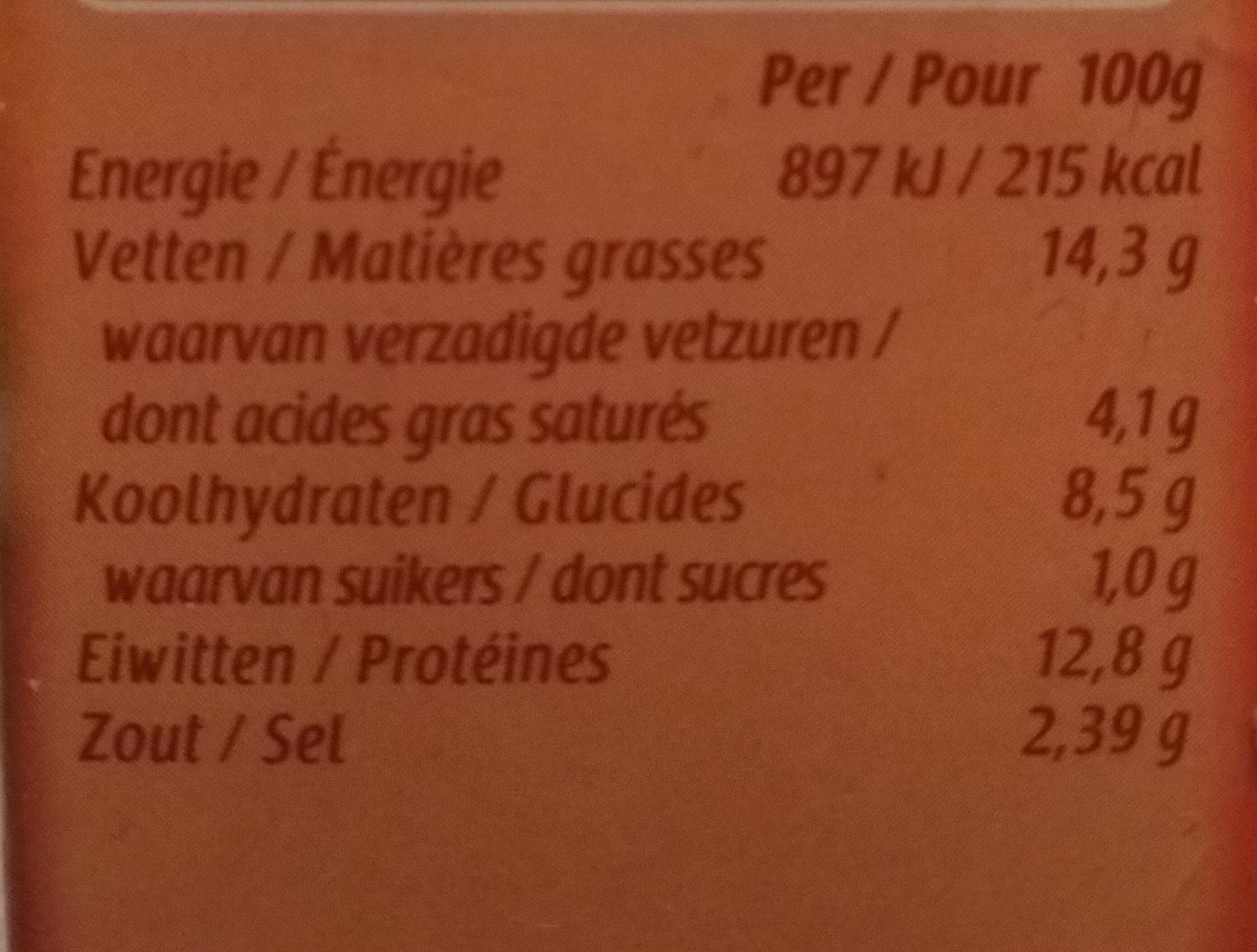Frikandellen - Informations nutritionnelles