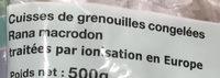 Cuisses de grenouilles sauvages crues congelées - Ingrédients - fr