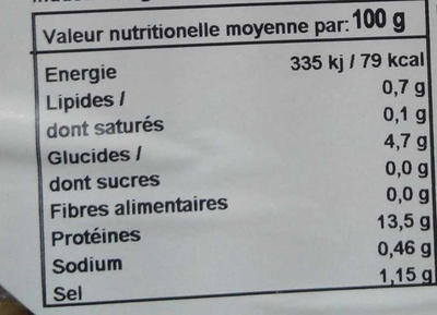 Coques The Taste of Excellence - Nutrition facts - fr