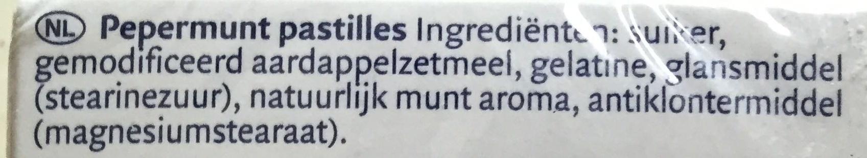 Wilhelmina Pepermunt - Ingrediënten - nl
