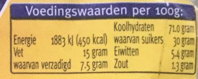 Kruidnootjes - Nutrition facts - nl