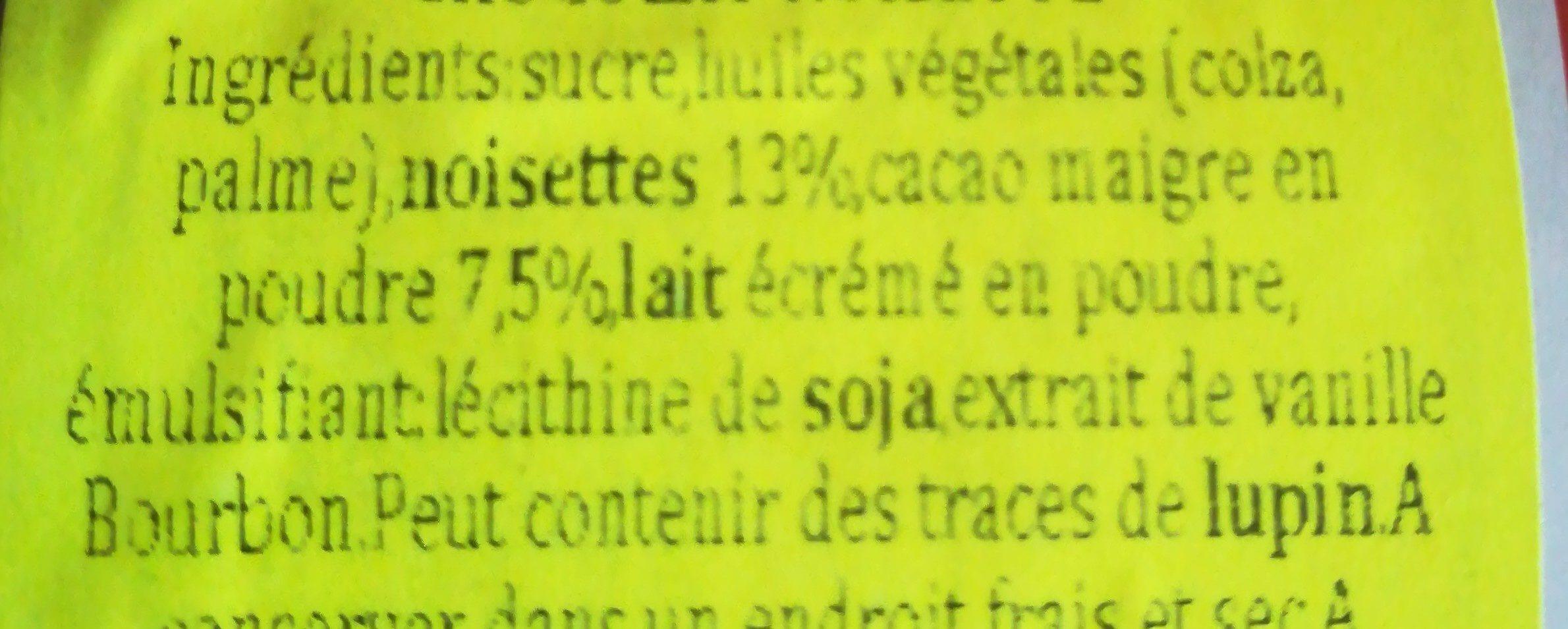 Chocolate spread - Ingrediënten - en