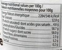 Nusica - Pâte à tartiner aux noisettes chocolate - Valori nutrizionali - fr