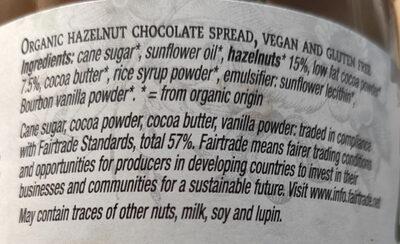 La vida vegan hazelnut chocolate spread - Ingredients - en