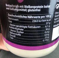 Nusco protein - Voedigswaarden