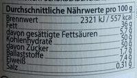 Chocolate Symphony No. 11 Weiße Crunchy Mandel Creme - Nutrition facts - de