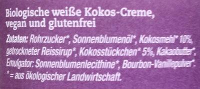 Weißer Kokosaufstrich vegan - Ingredients - de